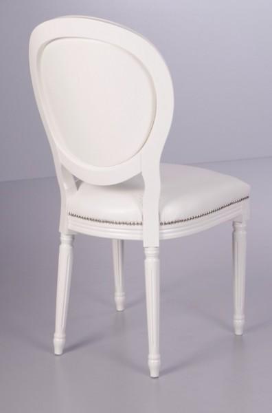 casa padrino barock esszimmer stuhl wei wei lederoptik designer stuhl luxus qualit t. Black Bedroom Furniture Sets. Home Design Ideas