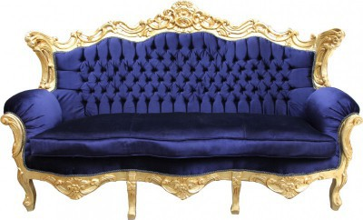 casa padrino barock wohnzimmer set royal blau gold 3er sofa 2er sofa 1 sessel casa padrino. Black Bedroom Furniture Sets. Home Design Ideas