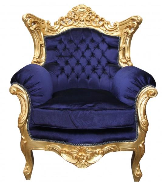 casa padrino barock wohnzimmer set royal blau gold 3er