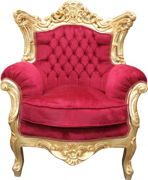 casa padrino barock wohnzimmer set bordeaux gold 3er