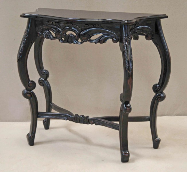 casa padrino barock konsolentisch antik stil schwarz. Black Bedroom Furniture Sets. Home Design Ideas