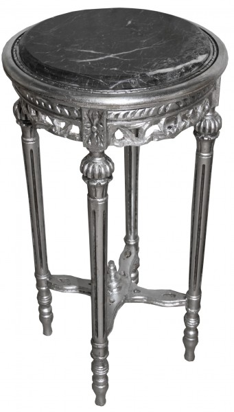 Baroque Side Table Silver Round ModY13 73 x 38 cm antique styleBaroque Round Table