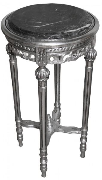 barock beistelltisch rund silber mody 13 73 x 38 cm antik stil beistelltische. Black Bedroom Furniture Sets. Home Design Ideas