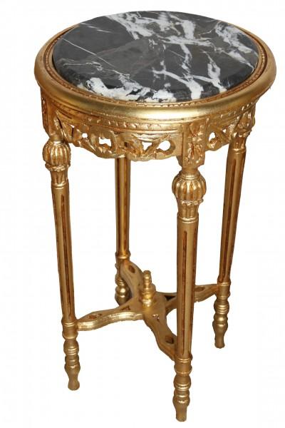 barock beistelltisch rund gold mody17 73 x 38 cm antik stil beistelltische. Black Bedroom Furniture Sets. Home Design Ideas
