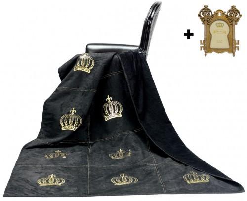 Harald Glööckler Designer Wohndecke 150 x 200 cm Royal Schwarz ...