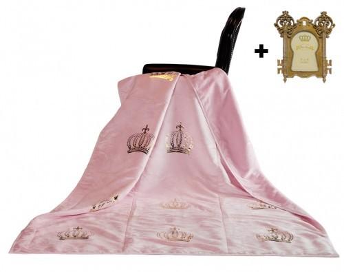 harald gl ckler designer wohndecke 150 x 200 cm royal rosa gold casa padrino bilderrahmen. Black Bedroom Furniture Sets. Home Design Ideas
