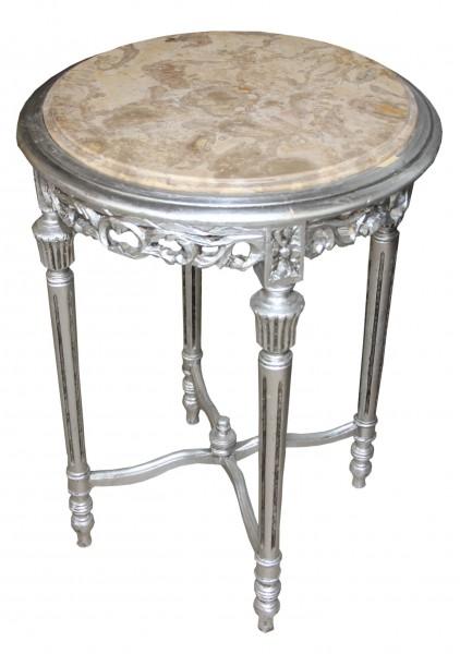 Barock beistelltisch rund silber mody20 68 x 48 cm antik - Beistelltisch silber rund ...