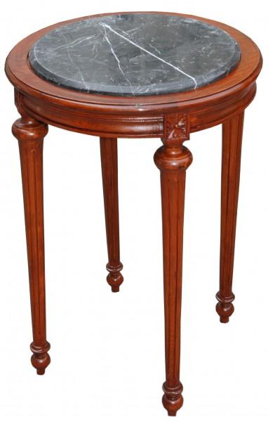 barock beistelltisch rund braun schwarz marmorplatte mody23 72 x 49 cm antik stil beistelltische. Black Bedroom Furniture Sets. Home Design Ideas