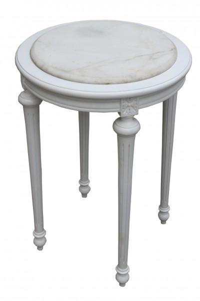 Baroque Side Table Round White White marble slab ModY24 72 x 49 cm    Baroque Round Table