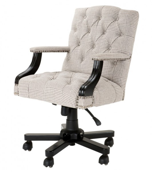 office chair cream brown swivel chair desk chair executive chair