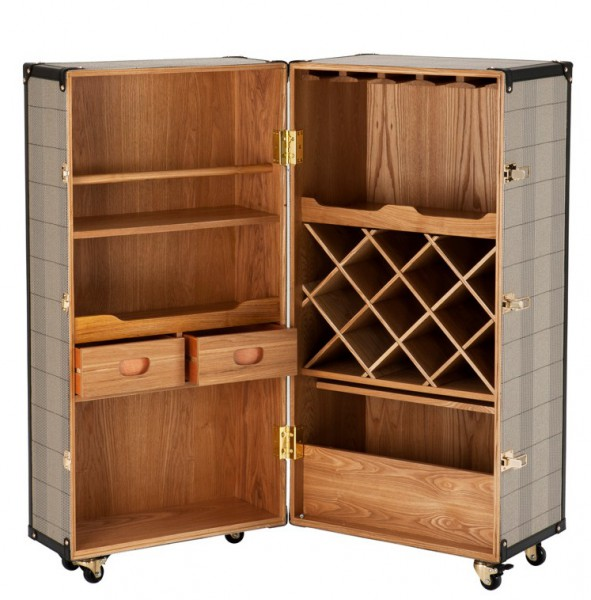 casa padrino luxury bar cabinet in vintage suitcase design. Black Bedroom Furniture Sets. Home Design Ideas
